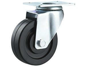 ESD and Conductive Rubber Casters Swivel Plate